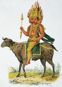 Рисунок 5. Изображение бога Агни