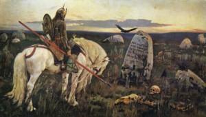 Рисунок 2. В.М.Васнецов. Витязь на распутье.