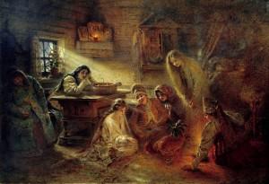 Рисунок 6. К. Маковский. Святочные гадания