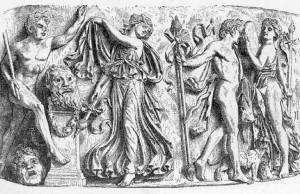 Рисунок 4. Праздник Диониса, рельеф античного саркофага.