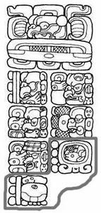 Знаменитая стела из майянского города Киригуа, свидетельствующая о конце эпохи Третье Солнце, где записана календарная дата, от которой идет счет эпохи Четвертое Солнце. Начало этого счета было положено в день 4 Ахау 8 Кумху, что соответствует дате 13 августа 3113 г. до н.э.