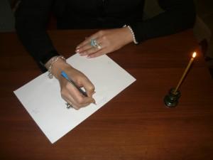 подготовка листа для списывания